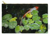 Koi With Lily Pads A Carry-all Pouch