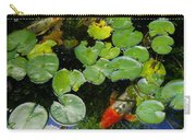 Koi With Lily Pads D Carry-all Pouch