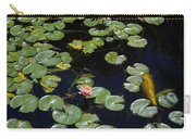 Koi With Lily Pads E Carry-all Pouch