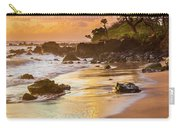 Koki Beach Sunrise Carry-all Pouch by Inge Johnsson