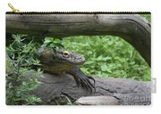Komodo Dragon Climbing Over A Fallen Tree Carry-all Pouch