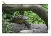 Komodo Dragon Creeping Through Two Fallen Logs Carry-all Pouch
