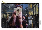 Komondor Art Canvas Print - The Town Night Out Carry-all Pouch