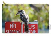 Kookaburra On A Road Sign Carry-all Pouch