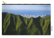 Koolau Mountains And Honolulu Carry-all Pouch