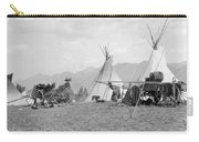 Kootenai First Nations Camp, C.1920-30s Carry-all Pouch