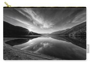 Kootenay Lake Sunrise Black And White Carry-all Pouch