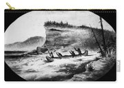 Krieghoff: Canoe On Rapids Carry-all Pouch