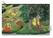 Krishna Fluting The The Milkmaids Carry-all Pouch