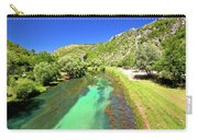 Krka River Below Knin Fortress View Carry-all Pouch