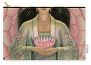 Kuan Yin Pink Lotus Heart Carry-all Pouch by Sue Halstenberg
