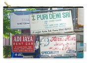 Kuta Street Signs -- Bali Carry-all Pouch