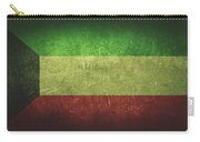 Kuwait Distressed Flag Dehner Carry-all Pouch
