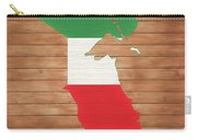 Kuwait Rustic Map On Wood Carry-all Pouch