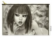 Kylie - Cute And Sassy - Black And White Classic Carry-all Pouch
