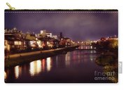 Kyoto Nighttime City Scenery Of Kamo River With Street Lights Re Carry-all Pouch