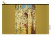 La Cathedrale De Rouen Le Portail Et La Tour Saint-ro Claude Oscar Monet Carry-all Pouch