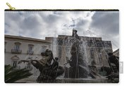 La Fontana Di Diana - Fountain Of Diana Silver Jets And Sky Drama Carry-all Pouch