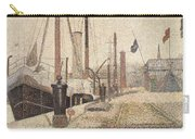 La Maria At Honfleur Carry-all Pouch by Georges Pierre Seurat