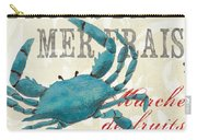 La Mer Shellfish 1 Carry-all Pouch by Debbie DeWitt