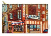 La Quebecoise Restaurant Deli Carry-all Pouch by Carole Spandau