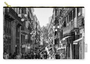 La Rambia Bw Streets  Carry-all Pouch