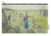 The Harvesting Of Hay Eragny  Carry-all Pouch