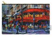 La Rotonde Paris Modern Impressionist Palette Knife Oil Painting Carry-all Pouch