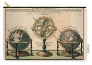 La Sphere Artificielle - Illustration Of The Globe - Celestial And Terrestrial Globes - Astrolabe Carry-all Pouch