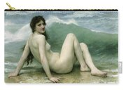 La Vague Carry-all Pouch by William Adolphe Bouguereau