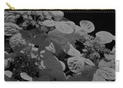 Lace Cap Hydrangea In Black And White Carry-all Pouch