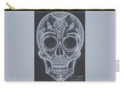 Lace Sugar Skull Carry-all Pouch