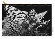 Lacy Black And White Carry-all Pouch