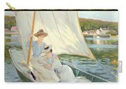 Ladies In A Sailing Boat  Carry-all Pouch