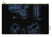 Ladies Pistol Compact Patent Art Carry-all Pouch