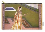 Lady Alone At Holi Festival Carry-all Pouch