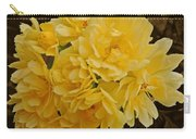 Lady Banks Rose With Sepia Background Carry-all Pouch