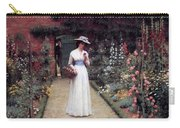 Lady In A Garden Edmund Leighton 1893 Carry-all Pouch