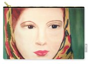 Lady In A Scarf Carry-all Pouch