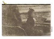 Lady In Black, In A Loge, Facing Right Carry-all Pouch