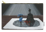 Lady In Blue 3d Carry-all Pouch