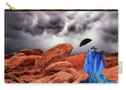 Lady In Blue Nevada Carry-all Pouch