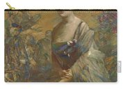 Lady In Blue Carry-all Pouch