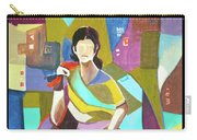 Lady In Mosaic Carry-all Pouch