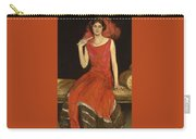 Lady In Red - Mrs Owen Barton Jones Carry-all Pouch