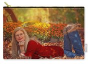 Lady In The Leaves Carry-all Pouch