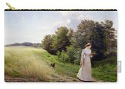 Lady In White Reading  Carry-all Pouch