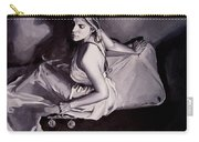 Lady Justice  Black And White Carry-all Pouch