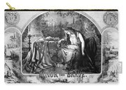 Lady Liberty Mourns During The Civil War Carry-all Pouch