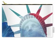 Lady Liberty With French Flag Carry-all Pouch